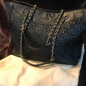 Black Tory Burch leather tote